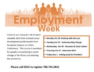 Employment Week @ EEOC Provost Adult Learning & Literacy