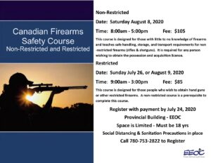 Non-Restricted Firearms Course @ EEOC: Provost Provincial Building