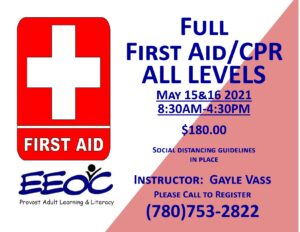Full First Aid @ EEOC Provost Adult Learning & Literacy
