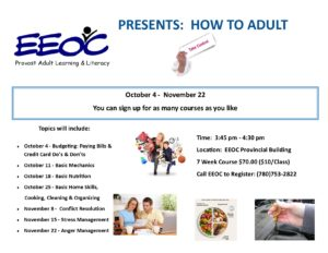 How to Adult @ EEOC Provost Adult Learning & Literacy