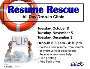 Resume Rescue @ EEOC Provost Adult Learning & Literacy