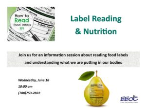 Food Label Reading and Nutrition @ EEOC Provost Adult Learning & Literacy